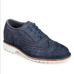 Kenneth Cole NY Wing Brogue Nubuck-T Leather Shoes